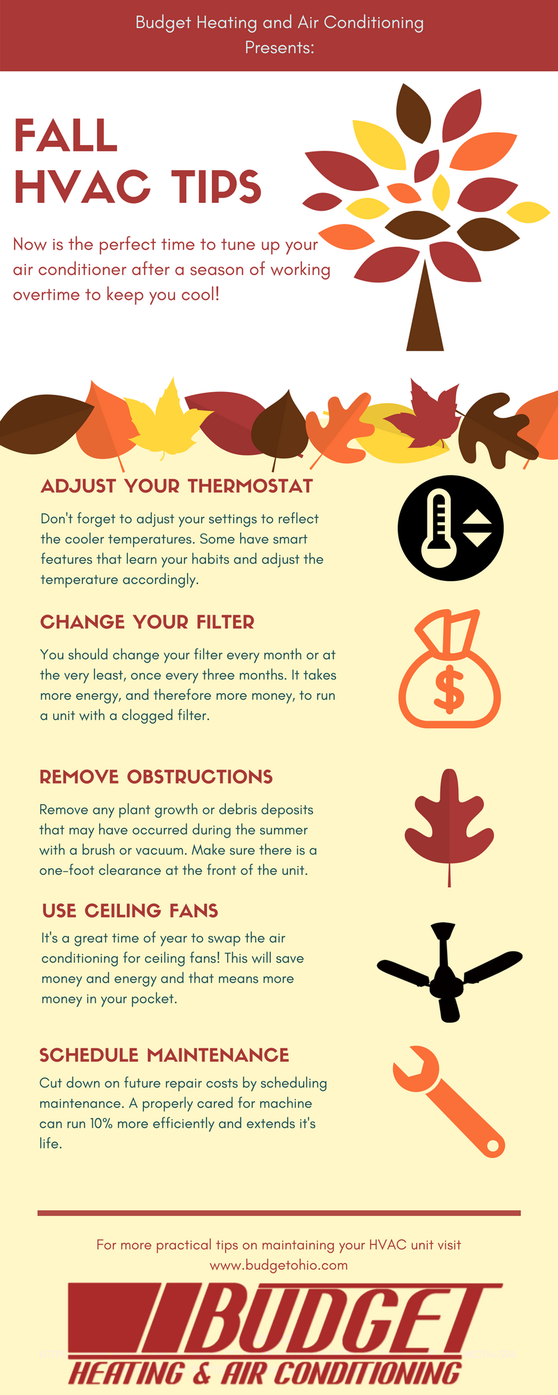 Fall Hvac Tips Budget Heating Air Conditioning Cleveland Oh Fridge Programmable Thermostat Wiring Conditoner Maintenance For Season By In