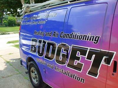 Budget Heating and Cooling's van