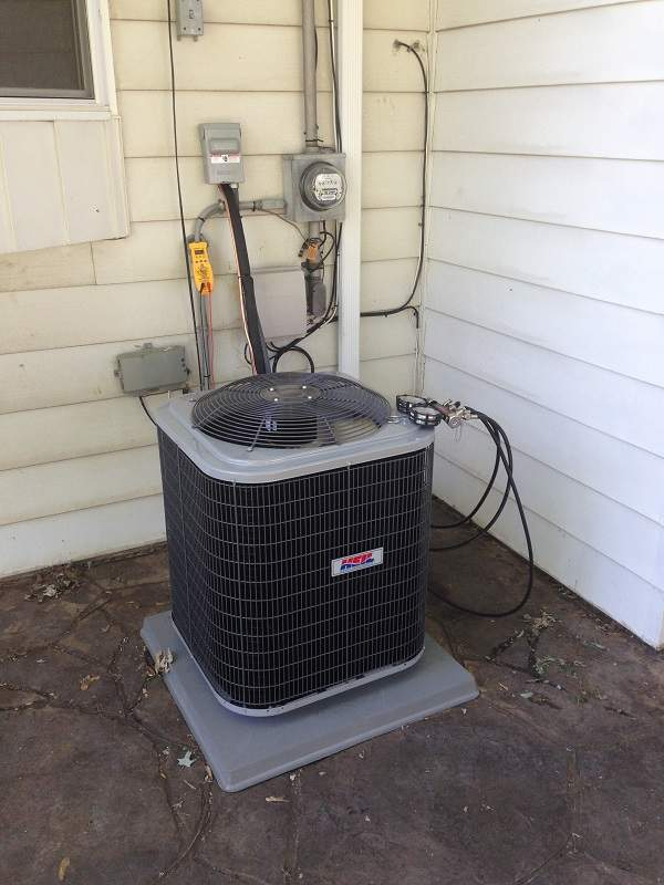 Maintenance and Repair on an air conditioner unit in North Olmsted Ohio