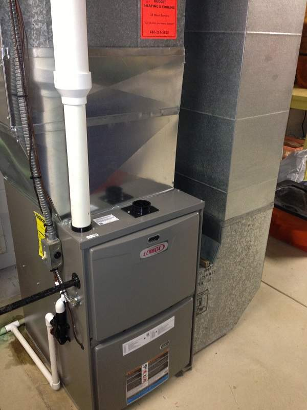 Maintenance and Repair on a furnace in Elyria Ohio
