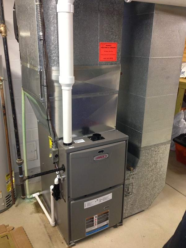 Maintenance and Repair on a furnace in Lakewood Ohio