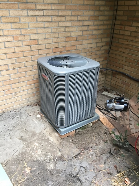 Construction Air Conditioner : Hvac furnace air conditioner installation gallery